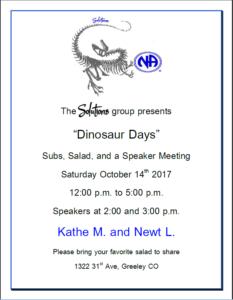 Dinosaur Days 10-14-2017