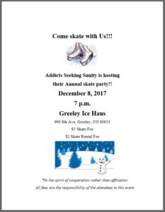addicts seeking sanity skate party